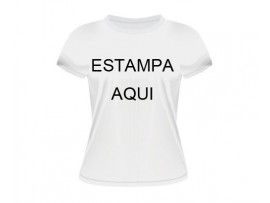 Camiseta Branca baby look 1 estampa