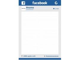 Placa Facebook