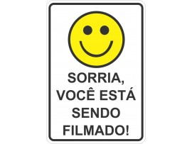 Placa Sorria Você Está Sendo Filmado