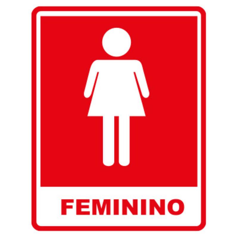 Placas -> Homens Banheiro Feminino